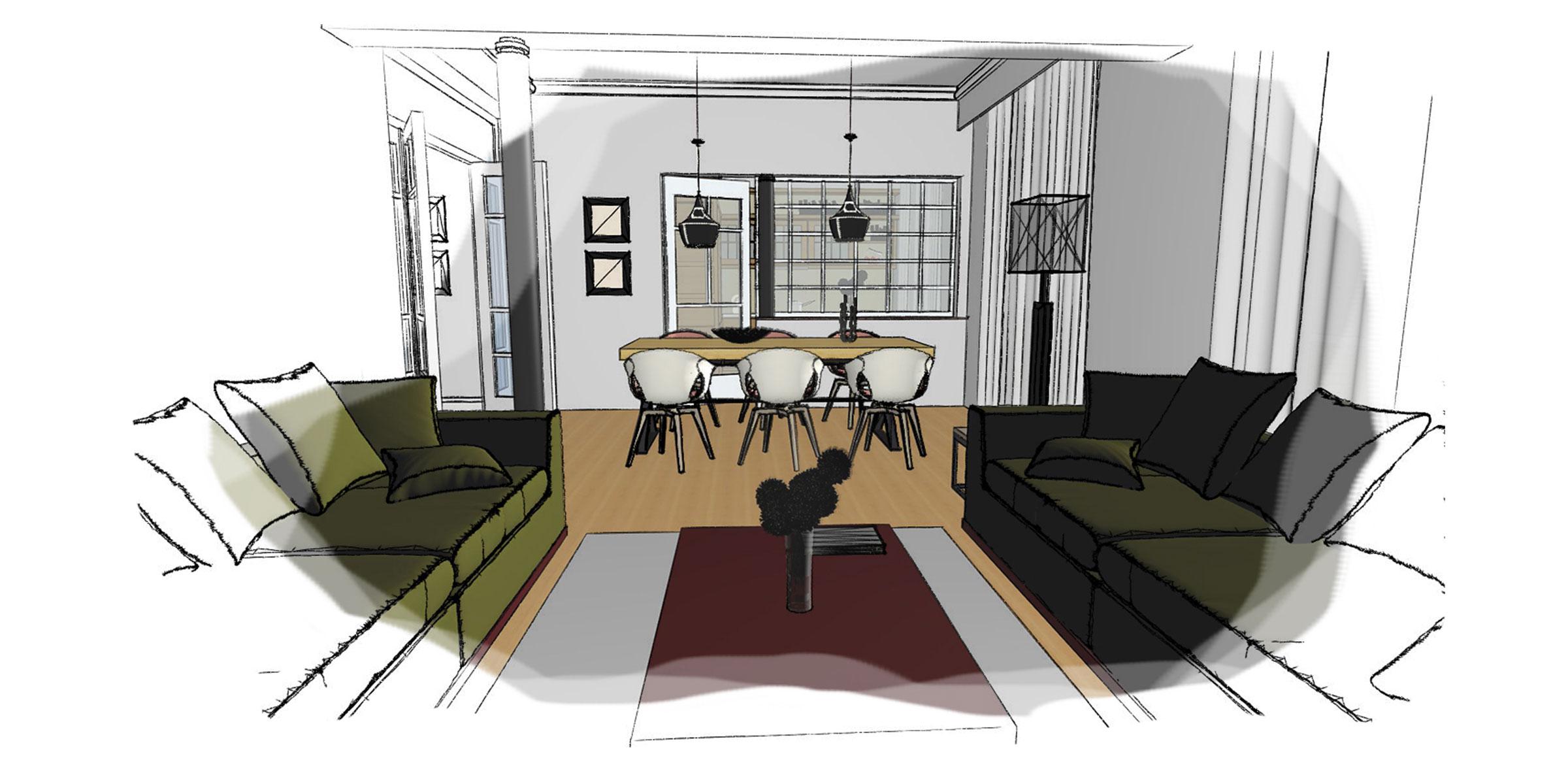 egnatia interior architecture sketch 2
